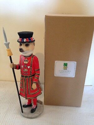 Country Artists Windsor Beefeater Magnificent Meerkat Ornament Boxed