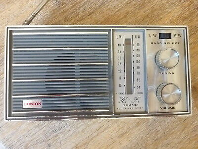 Radio Ancienne Conion LW MW Made in Japan Année 1970 vintage