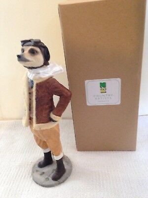 Country Artists Magnificent Meerkat Ornament Figure Bader Pilot Boxed