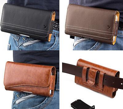 Samsung Galaxy Note 9 - PU Leather Belt Clip Pouch Holster Phone Card Slot Case
