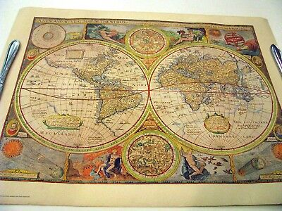A NEW AND ACCVRAT  MAP OF THE WORLD Repo by Hammond Inc from Original Print