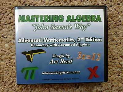 Saxon Advanced Mathematics, DVD's Taught by ART REED 2nd Edition FREE SHIPPING