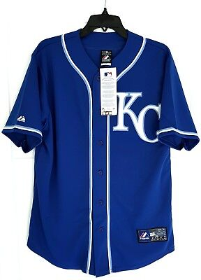 MAJESTIC KANSAS CITY ROYALS MLB Official Baseball Jersey Shirt USA MADE Men's M
