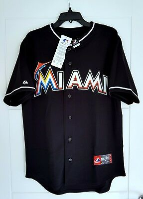 MAJESTIC MIAMI MARLINS MLB Official Baseball Jersey Shirt MADE IN USA Men's 2XL