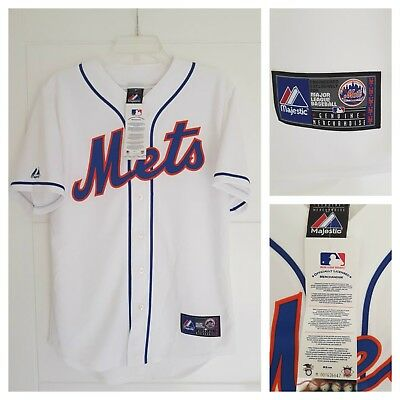 MAJESTIC NEW YORK METS MLB Official Baseball Jersey Shirt MADE IN USA Men's S