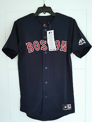 MAJESTIC BOSTON RED SOX Official MLB Baseball Jersey Shirt Authentic New Mens