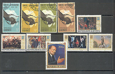 Guinee - Lot of canceled Stamps (incl. Stamps with Vladimir Lenin)