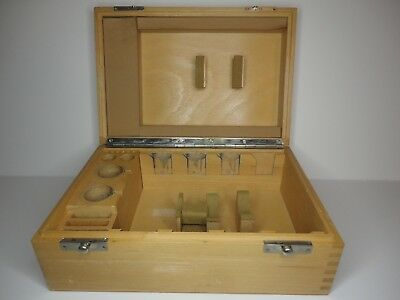 Zeiss Microscope POL accessory wooden box very Nice !