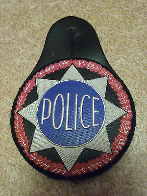 Insigne Plaque Police Cuir Badge Nationale - Obsolete Pour Collection