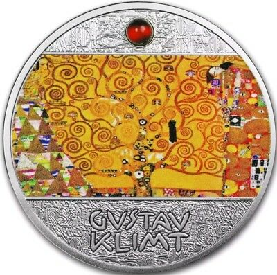 2018 Niue $1 TREE OF LIFE Gustav Klimt Golden Five Silver Coin.