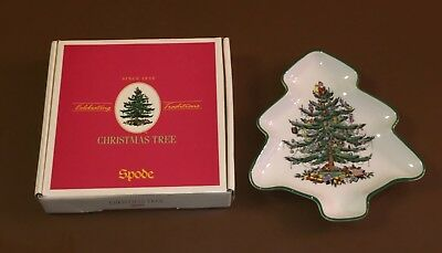 Spode Christmas Tree Shaped Dish in Box S3324-A3 Made in England 2003
