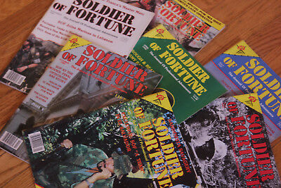 Soldier of Fortune Magazine lot MILITARY WAR GUNS AMERICA - 7 total pieces