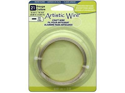 Artistic Wire Atw12756  Flat 21Ga 5Mm Tarnish Silver 3Ft