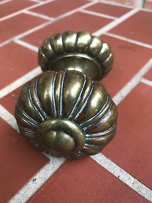 "Vintage Antique Ornate Large Brass Door Knob 3"" Salvage Hardware Handle Old"