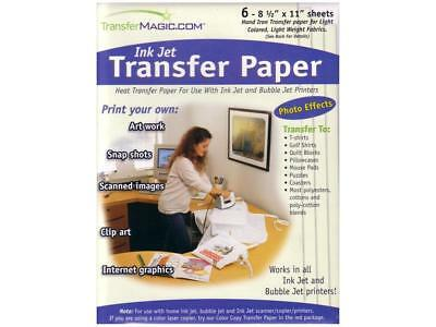 Transfer Magic Trmfxink-6  Ink Jet Transfer Paper 6Pc
