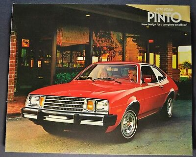 1979 Ford Pinto Brochure Pony Runabout ESS Squire Wagon Excellent Original 79