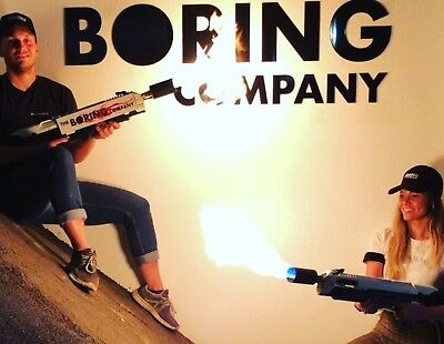 """the boring company """" not """" a flamethrower telsa"""
