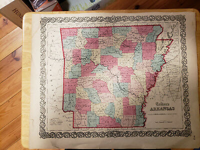 Colton's Map of Arkansas 1855