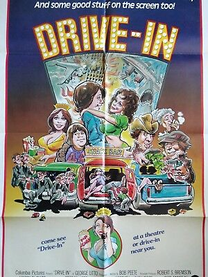 Vintage 1976 Drive-In Folded Movie Poster