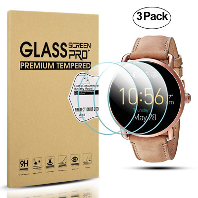 Diruite 3-Pack for Fossil Q Wander Gen 2 Screen Protector, 2.5D 9H Hardness Temp