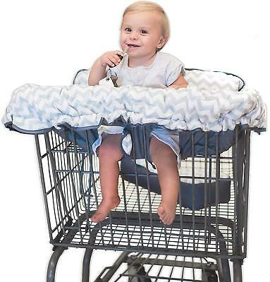 Premium 2-in-1 Cotton Shopping Cart Cover | High Chair Cover for Baby & Infant -
