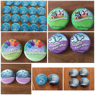 Disneyworld Dvc, I'm Celebrating, Happily Ever After Pins Buttons New 3""