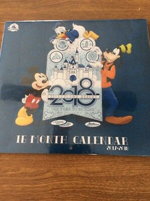 Disneyland 2018 16 Month Wall Calendar The Year To Be Here 2017-2018 New Sealed