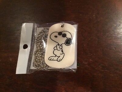 Snoopy Joe Cool Dog Tag ' Zipper Pull * Brand New* Only 2 Available