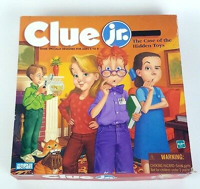 Clue Jr Junior The Case Of The Hidden Toys Board Game 1995 Read