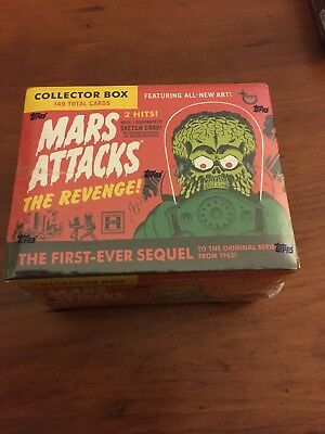 Mars Attacks The Revenge! 149-card collector box, new in box, still wrapped