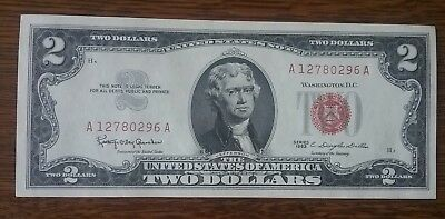 1963 $2 Two Dollar Bill United States Legal Tender Uncirculated Flawless