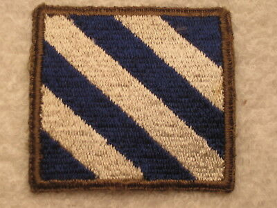 GREENBACK !  WW II US ARMY 3rd INFANTRY DIVISION PATCH 100% AUTHENTIC ORIGINAL
