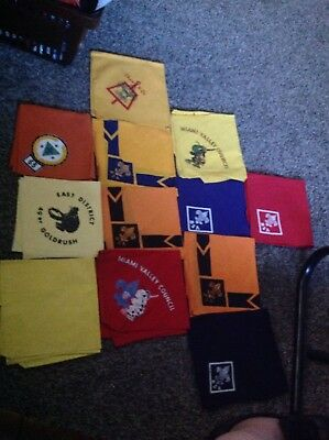 Boy Scouts America BSA Scarves In Lot 12 Pieces