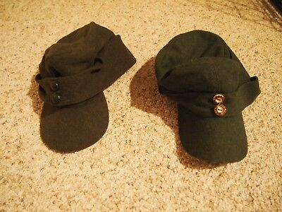 Two Wwii German Field Caps Reproduction