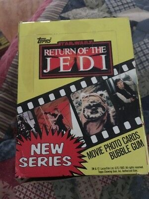 STAR WARS 1983 RETURN OF THE JEDI MOVIE PHOTO CARDS BOX OF 36 - new series