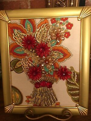 Vintage and Contemporary Jewelry Art Framed Christmas Trees, Angels, Floral