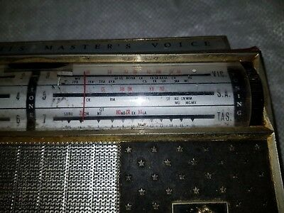 Vintage  H.m.v Consert Am Radio In Leather Case.