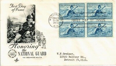 Dr Jim Stamps Us National Guard First Day Cover Block 1953 Washington Dc