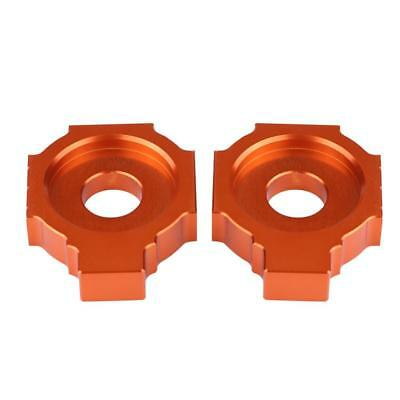 1 Pair CNC Rear Axle Spindle Chain Adjuster Blocks For KTM Duke 390 2013-2015 am