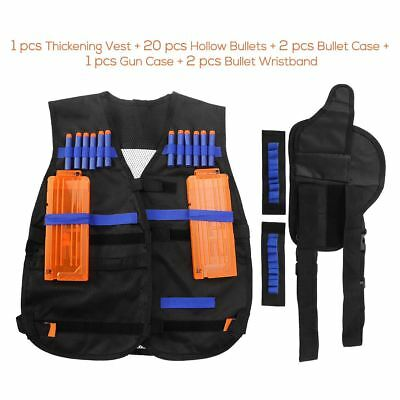 Tactical Vest Kit for Nerf Guns N-strike Elite Series + 20 Hollow Bullets Set US