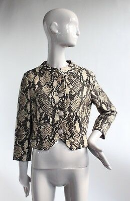 VTG 1960's Bill Blass for Maurice Rentner Snake Print Wool Jacket