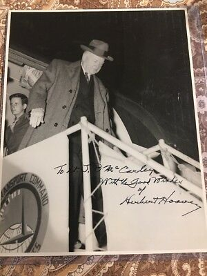 Herbert Hoover Autograph Hand Signed 8x10 Official Air Force Photo
