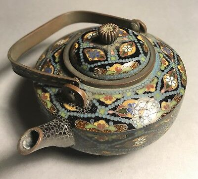 Outstanding Antique Chinese Cloisonné Tea Pot - Starting Price Reduced