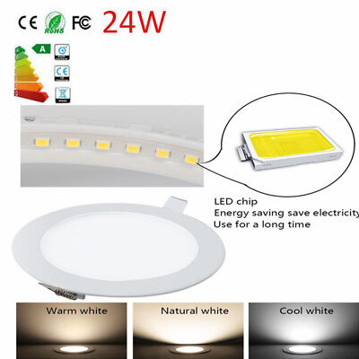 Led Recessed Lighting Panel Ceiling Down Light Round Downlights 24W Us