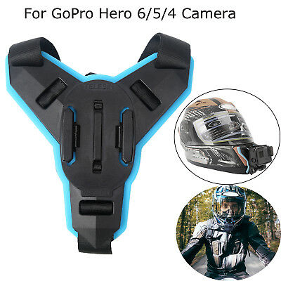 Motorcycle Full Face Helmet Front Chin Mount for Gopro Hero 6/5/4 Action Camera