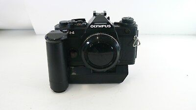 Vintage Olympus OM-4 Camera Body only. includes Auto Wind and Recordata Back 4