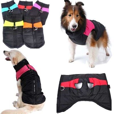 Large Small Pet Cat Dog Warm Padded Clothes Winter Waterproof Vest Coat Jacket