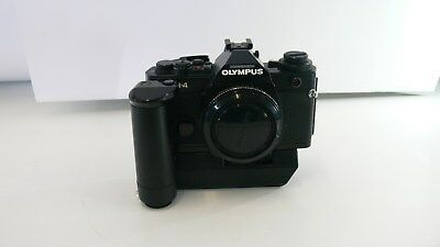 Vintage Olympus OM-4 Body with Autowind Attachment Estate Item