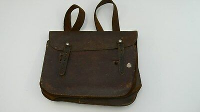 Vintage Leather School Satchel Back Pack