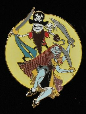 Disney Store Pin LE 100 Nightmare Before Christmas Jack Sally Pirates Caribbean